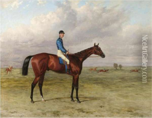 The Marquess Of Hasting's Bay Colt  Lecturer Oil Painting - Harry Hall