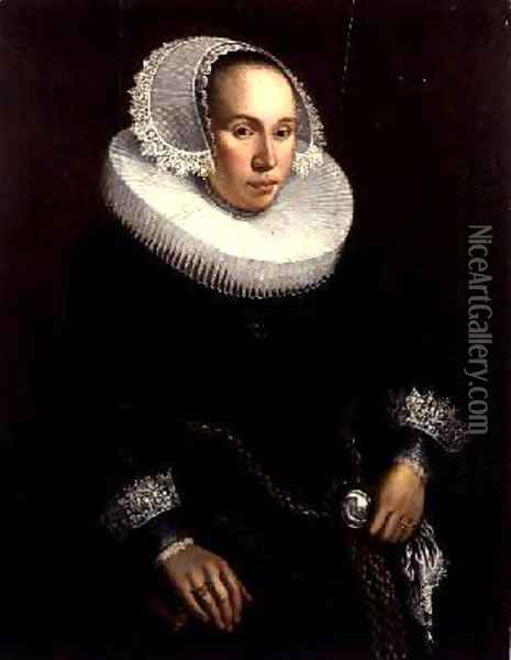 Portrait of a Lady Oil Painting - Michiel Jansz. van Miereveld