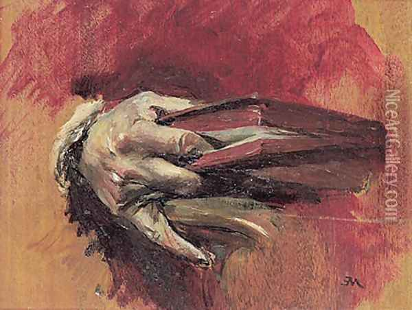 Study of a Hand with a Book Oil Painting - Ernest Meissonier