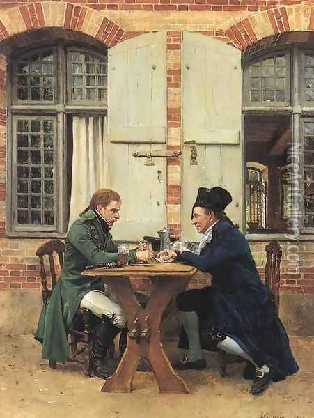 The Card Players Oil Painting - Ernest Meissonier