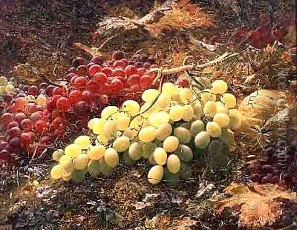 Grapes Oil Painting - William Muckley