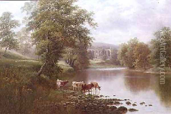 Bolton Abbey Oil Painting - William Mellor
