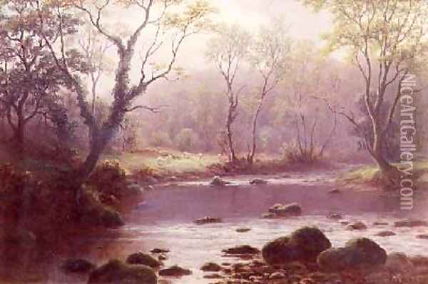 On the Wharfe Oil Painting - William Mellor