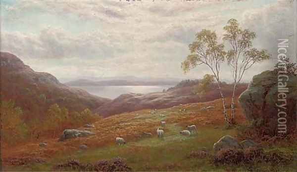 A peep of Windermere, Westmorland Oil Painting - William Mellor
