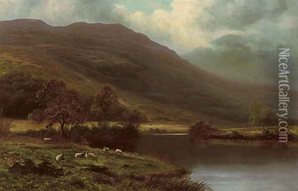 On the Lledr, North Wales Oil Painting - William Mellor
