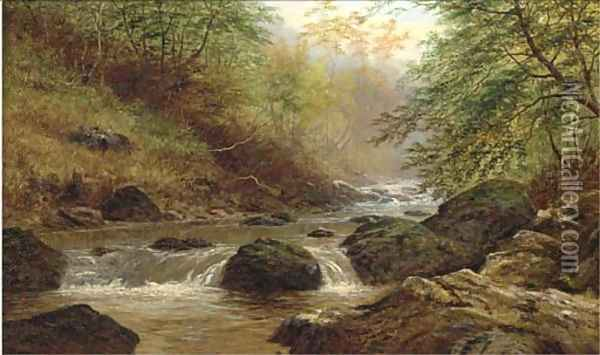 Rydal Beck Oil Painting - William Mellor