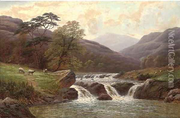 On the Conway, North Wales Oil Painting - William Mellor