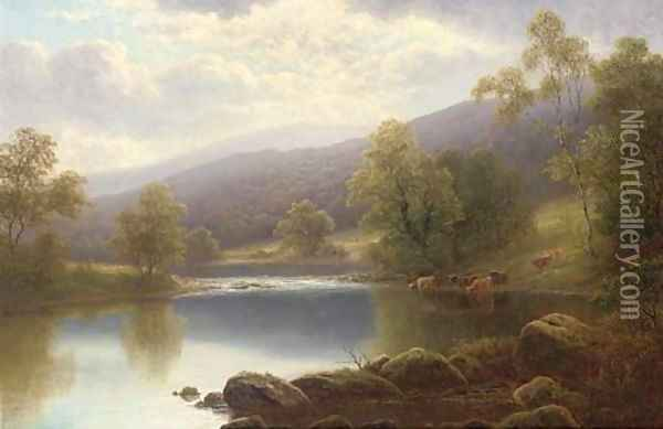 On the Warfe, Yorkshire Oil Painting - William Mellor