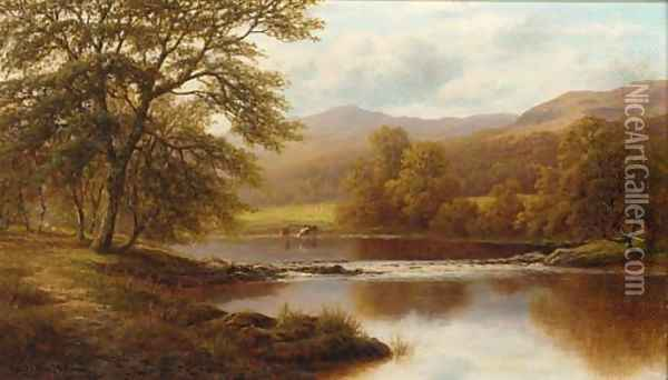 On the Wharfe, Yorkshire Oil Painting - William Mellor