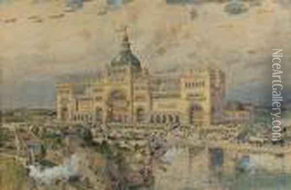 A View Of The World's Columbian Expo, Chicago Oil Painting - Frederick Childe Hassam