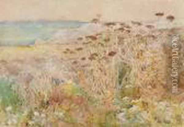 Isles Of Shoals Oil Painting - Frederick Childe Hassam
