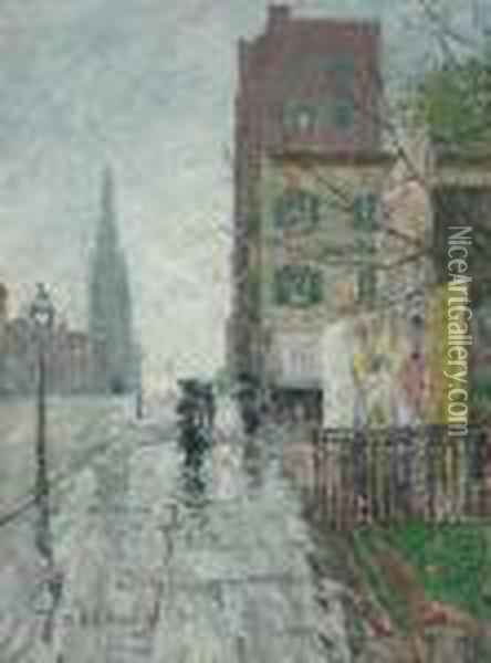 Rainy Day Oil Painting - Frederick Childe Hassam