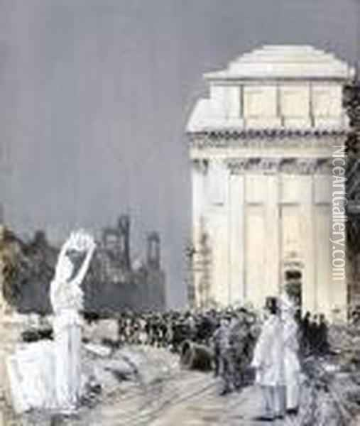 World's Columbian Exposition, Chicago, Illinois Oil Painting - Frederick Childe Hassam