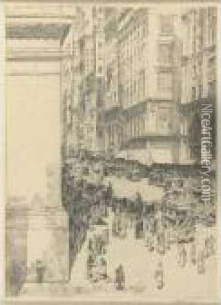 Fifth Avenue, Noon (cortissoz / Clayton 77) Oil Painting - Frederick Childe Hassam