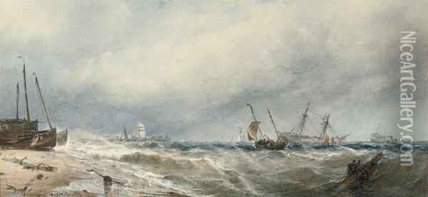 An Onshore Breeze Oil Painting - Edwin Hayes