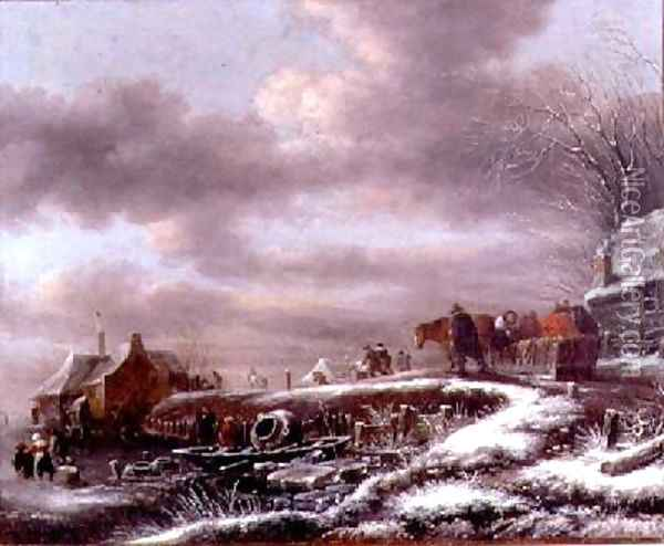 Winter Landscape 2 Oil Painting - Claes Molenaar (see Molenaer)