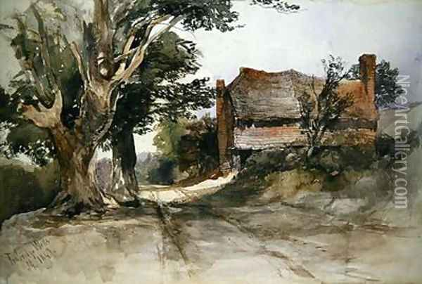 An Old Cottage at Tunbridge Wells 1847 Oil Painting - John Middleton