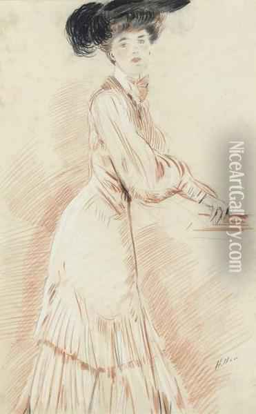 Anticipation Oil Painting - Paul Cesar Helleu
