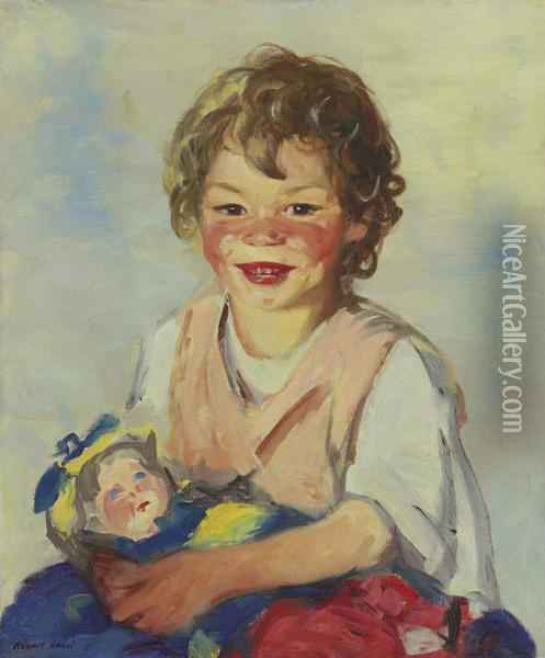 Lily Cow And The Queen Oil Painting - Robert Henri