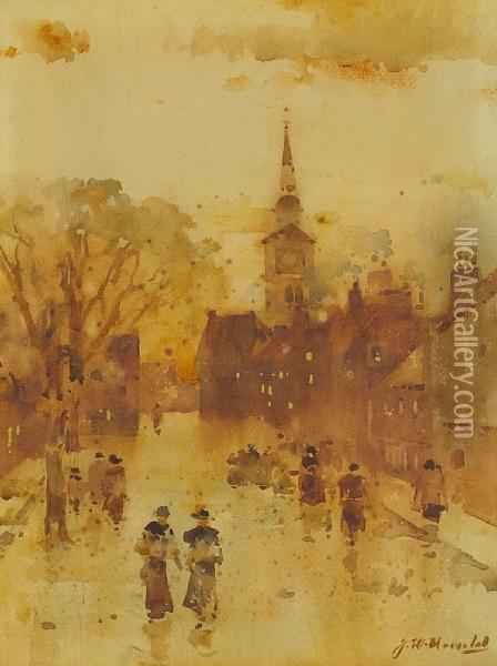 Old Parish Church, East High Street Oil Painting - James Watterston Herald