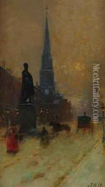 George St, Edinburgh, Looking East Oil Painting - James Watterston Herald