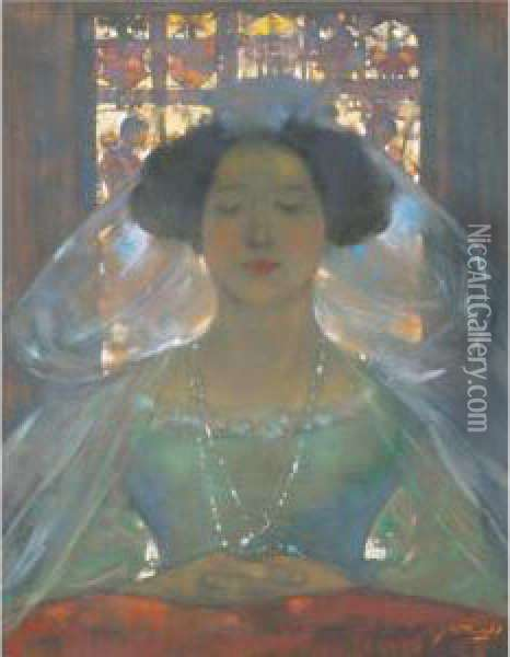 The Bride Oil Painting - James Watterston Herald