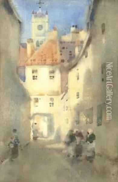 Sunshine And Shadow Oil Painting - James Watterston Herald