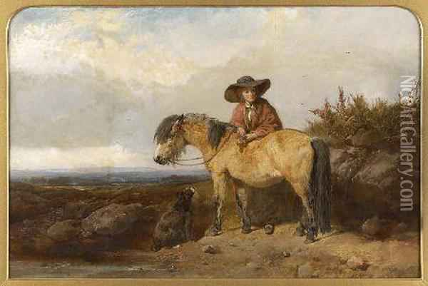 A Walk In The Countryside Oil Painting - John Frederick Herring Snr