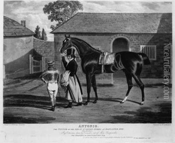 The Winner Of The Great St. Leger Stakes At Doncaster 1819 Oil Painting - John Frederick Herring Snr