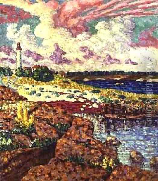 The Lighthouse at Vilsandi 1913-14 Oil Painting - Konrad Magi