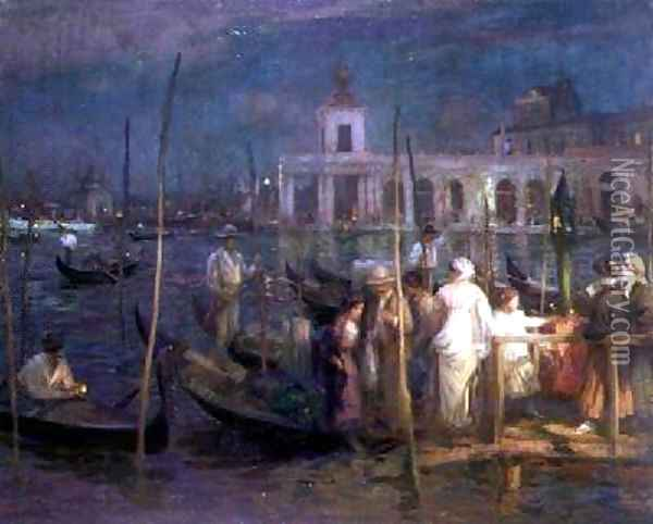 An Evening in Venice 1910 Oil Painting - Charles Hodge Mackie
