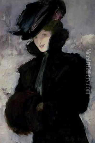The Fur Coat Oil Painting - Bessie MacNicol