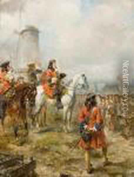 The March Past. Oil Painting - Robert Alexander Hillingford