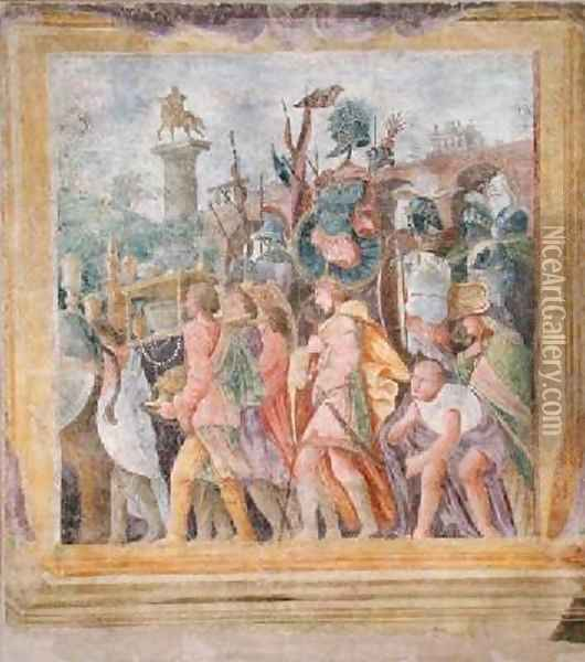 The Triumph of Caesar Oil Painting - Andrea Mantegna