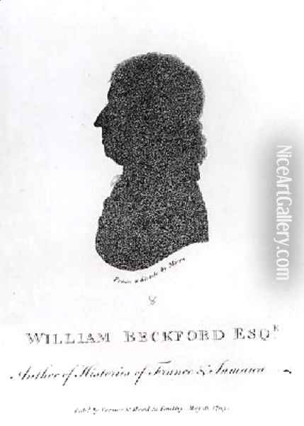 William Beckford Esq d1799 Author of Histories of France and Jamaica from a shade Oil Painting - Miers, John