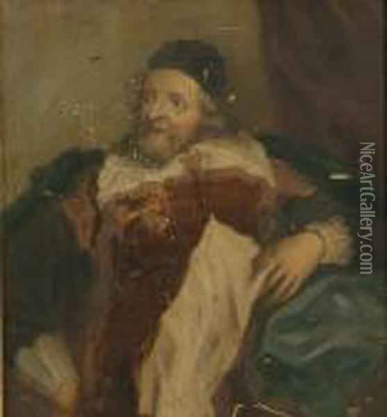 Portrait Of Inigo Jones Oil Painting - William Hogarth