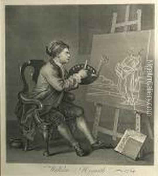Painting The Comic Muse Oil Painting - William Hogarth