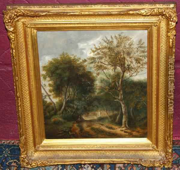 Woodland Scene Oil Painting - Thomas Hudson
