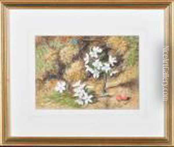 A Hedgerow Still-life Study Of Flowers And Berries Oil Painting - William Henry Hunt