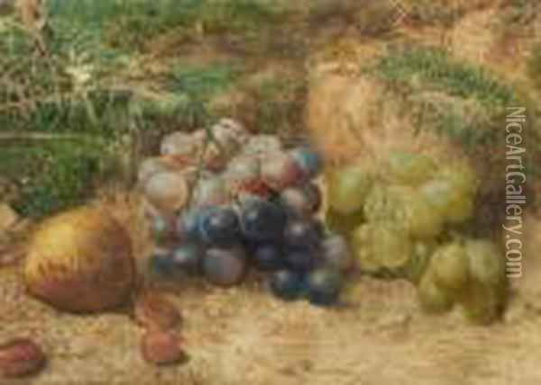 Still Life With Fruit Oil Painting - William Henry Hunt