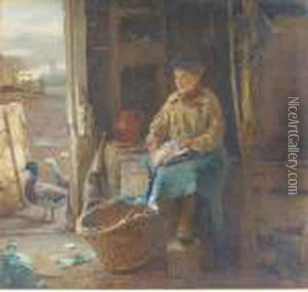 Asking For Trouble Oil Painting - William Henry Hunt