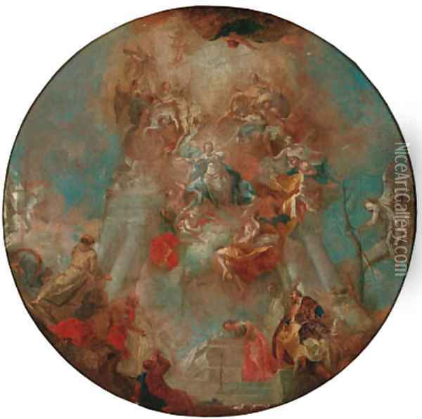 The Assumption of the Virgin - a modello for a dome Oil Painting - Franz Anton Maulbertsch