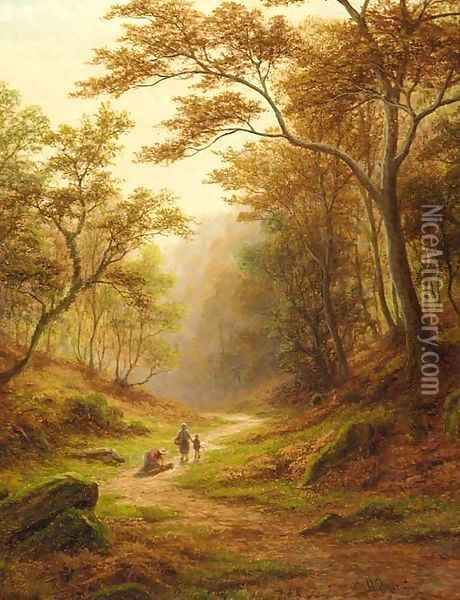 Woodland Glade, near Aysgarth, Wensleydale Oil Painting - William Mellor