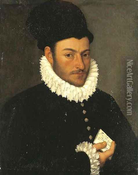 Portrait of a gentleman Oil Painting - Giovanni Battista Moroni