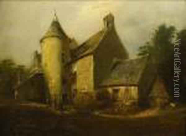 Scene De Campagne Oil Painting - Eugene Isabey