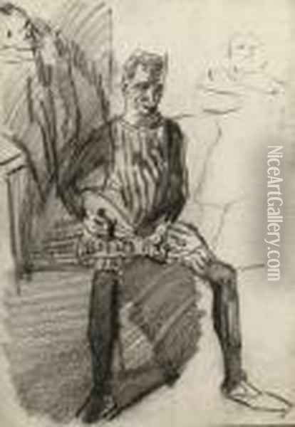 A Mandoline Player Oil Painting - Isaac Israels