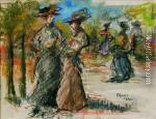 In The Park Oil Painting - Isaac Israels