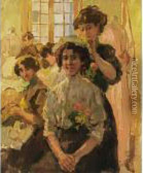 Coiffer Sainte Catherine Oil Painting - Isaac Israels