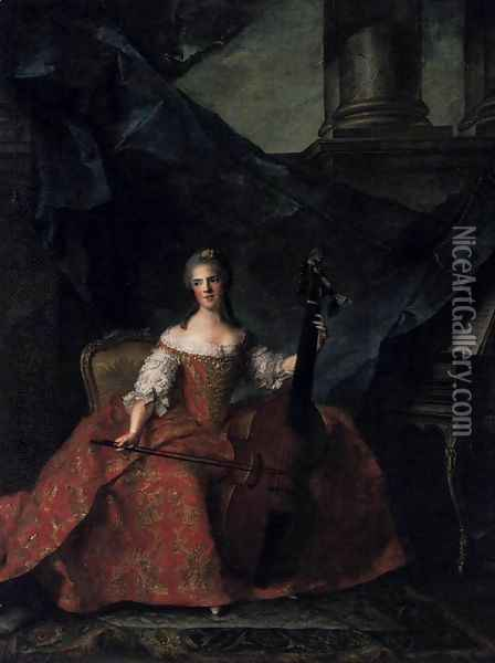 Madame Henriette 1754 Oil Painting - Jean-Marc Nattier