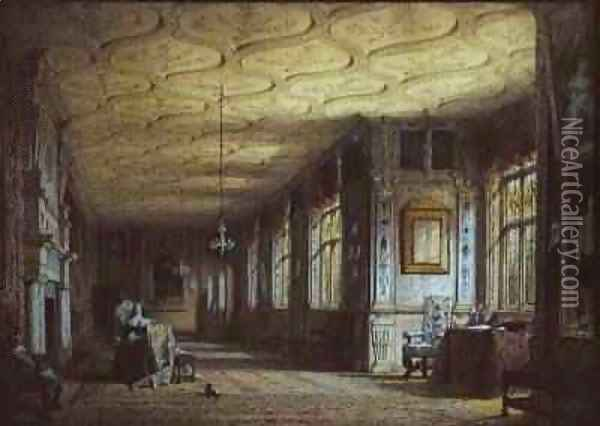 The Cartoon Gallery at Knole 1841 Oil Painting - Joseph Nash